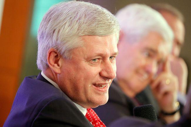 The Right Honourable Stephen Harper speaks about Trump, Trudeau, and Nieto regarding NAFTA Negotiations at Dentons NAFTA 2.0 Summit on October 11, 2017 in Washington, DC. (Paul Morigi/Getty Images)