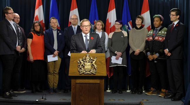 Alberta Education Minister David Eggen introduces Bull 24 at the Alberta Legislature on Thursday, November 2, 2017. Larry Wong/Postmedia Network