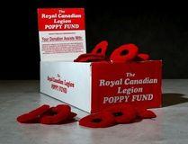 A Royal Canadian Legion poppy donation box is photographed on November 3, 2014. (Mike Dibattista, Postmedia Network)