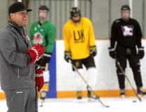Chad Palmer, hockey coach at St. Thomas Aquinas in London. (Mike Hensen/The London Free Press)