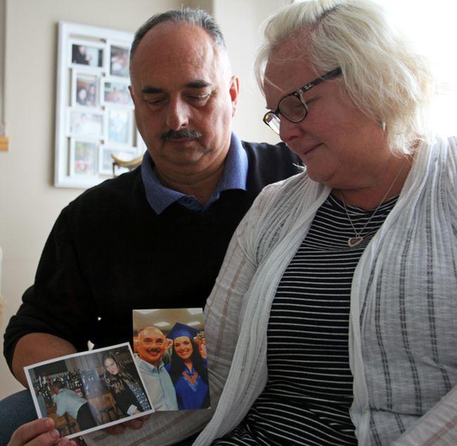 Anne and Gus Loukas in their home in Kingston, Ont. on Wednesday November 15, 2017. Steph Crosier/Kingston Whig-Standard/Postmedia Network