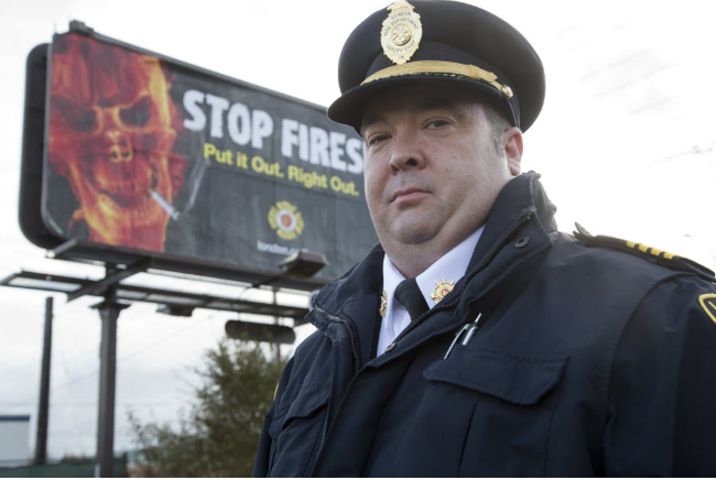 London deputy fire chief Jack Burt (DEREK RUTTAN, The London Free Press)