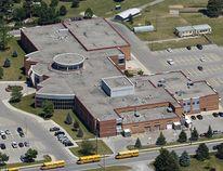 Aerial photo of Holt Trinity Catholic High School in Simcoe taken in June 2017. (BRIAN THOMPSON/Postmedia Network)