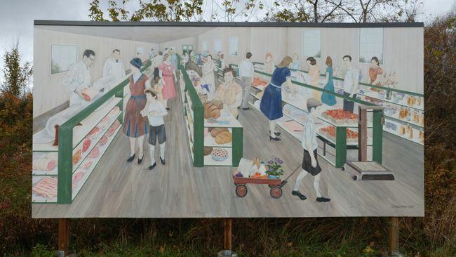 Farmer's Market mural in Pembroke, Ont.