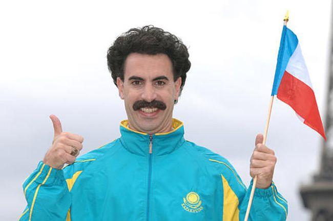 British comedian Sacha Baron Cohen as Borat.