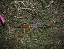 Borutski's 12-gauge shotgun, found following his arrest in a Kinburn field.