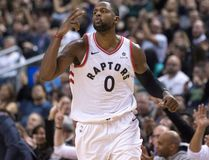 Toronto Raptors forward CJ Miles celebrates hitting a three-point shot on Nov. 17, 2017 (THE CANADIAN PRESS)