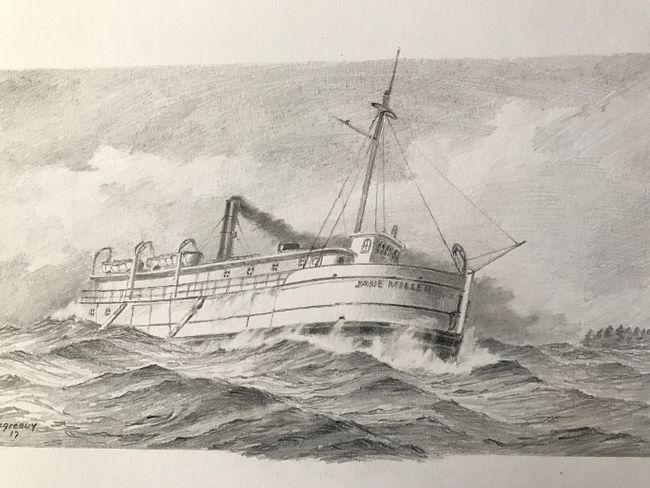 A drawing of the Jane Miller by U.S. artist Bob McGreevy. (Bob McGreevy)