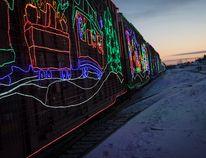 The CP Holiday Train - pictured here leaving Ponoka, Alta. last year - makes its return to Central Alberta tonight. (Ashli Barrett/Lacombe Globe)