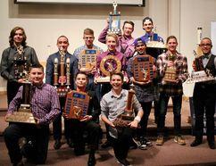 The Sherwood Park Bantam Northstars awards winners. Photo supplied
