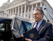 Sen. Al Franken, D-Minn., leaves the Capitol after speaking on the Senate floor, Thursday, Dec. 7, 2017, on Capitol Hill in Washington. (AP Photo/Andrew Harnik)