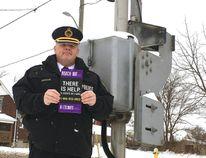 CN police Insp. Scott McCallum in London on Friday. (MEGAN STACEY, The London Free Press)