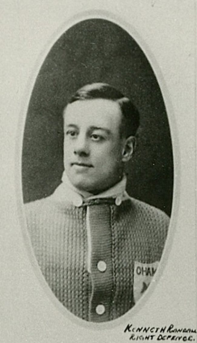 Kingston native Ken Randall of the 1918-19 Toronto Arenas.