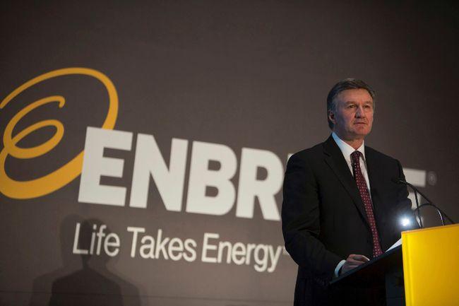 Enrbridge president and CEO Al Monaco addresses shareholders at the company's AGM in Calgary last May.