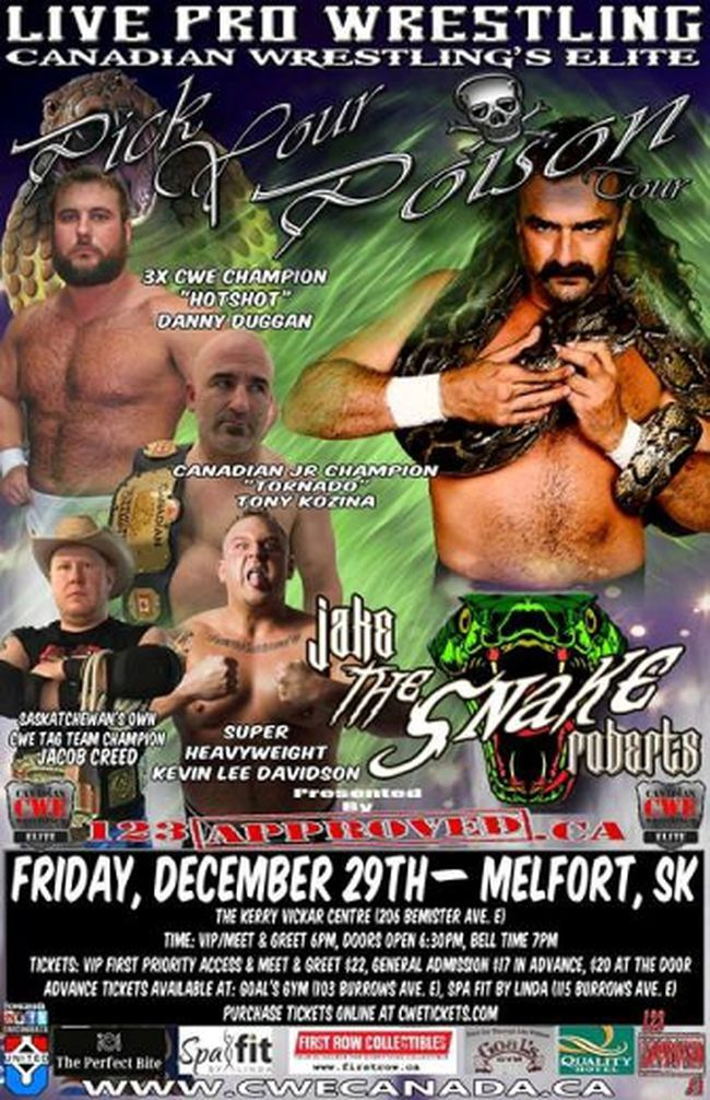 Canada's Wrestling Elite returns to Melfort on Friday.