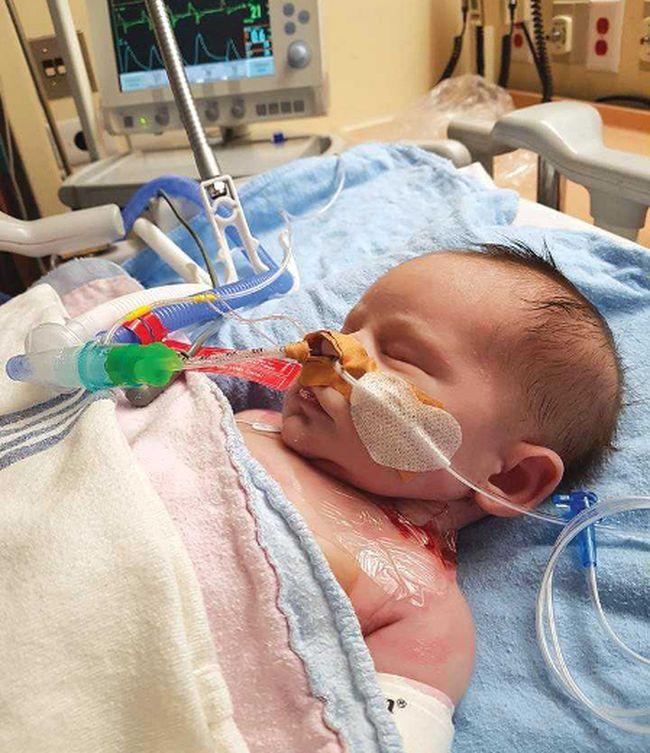 Elijah Hennessey, just days old, underwent surgery at Toronto's Hospital for Sick Children.