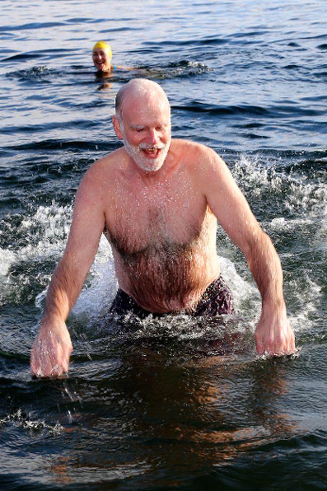 Participant in last year's swim.