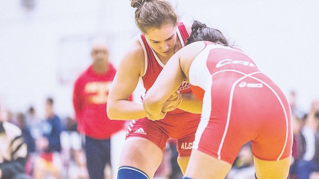 Algoma University wrestler Natasha Doroodian.