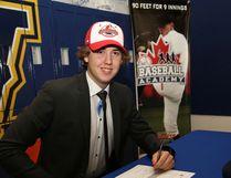 Local baseball product Brett Melanson signed a letter of intent in Sudbury on Friday, with Okanagan College in British Columbia. John Lappa/Sudbury Star/Postmedia Network