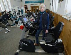 """I consider them ... my lifeline"": Eunice Diamond, 82, at London Health Sciences Centre's soon-to-close Cardiac Fitness Institute. (MORRIS LAMONT, The London Free Press)"