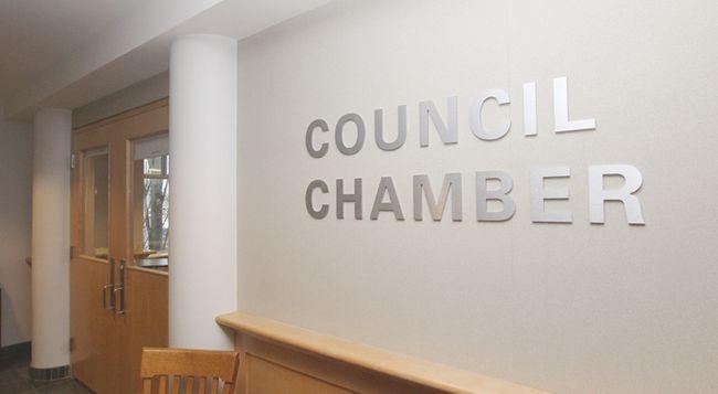 KASSIDY CHRISTENSEN HIGH RIVER TIMES/POSTMEDIA NETWORK. High River Municipal Building Council Chamber.