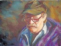 Lois Fuchs' portrait titled Midnight Sun showing at ArtWithPanache.