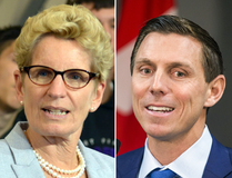 Premier Kathleen Wynne and just-resigned Progressive Conservative Leader Patrick Brown.