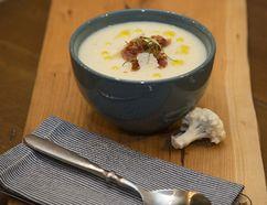 Cauliflower Soup with Parmesan (Food Styling by Christie Pollard, Photo by DEREK RUTTAN, The London Free Press)