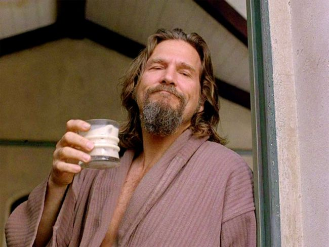 Jeff Bridges as Jeff Lebowski, the Dude, in The Big Lebowski.