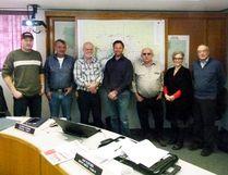 Clear Hills County council, l-r, David Janzen, Miron Croy, Ray Wetmore, Reeve Jason Ruecker, Peter Frixel, Amber Bean, Dan Fletcher.