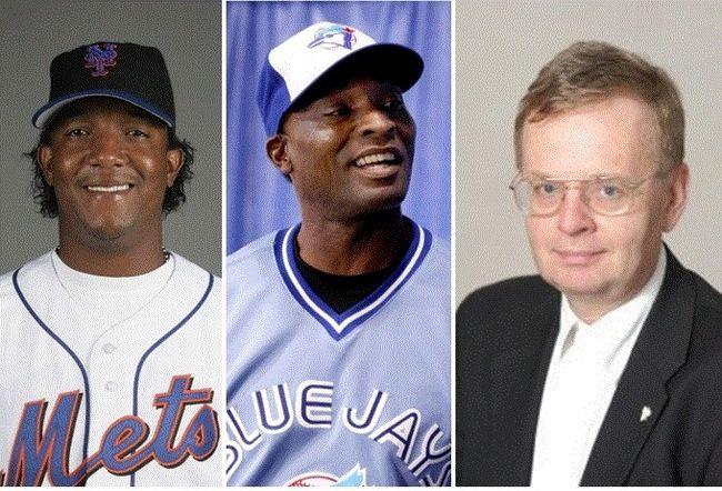 Pedro Martinez, Lloyd Moseby and William Humber. (File photos)