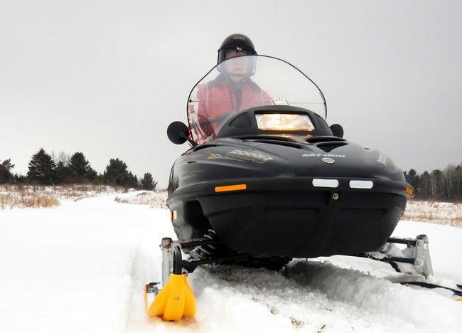 A sledder navigates Bruce Mines Sno Glyders Club trails, east of Sault Ste. Marie.