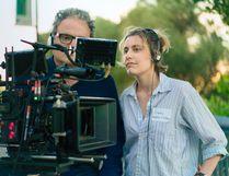 Director Greta Gerwig on the set of Lady Bird. (Associated Press)