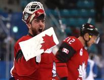 Team Canada goalie Kevin Poulin