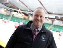 Chris Poponick is the head coach of the Selkirk Fishermen. (Brook Jones/Selkirk Journal/Postmedia Network)