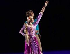 Real-life couple Bonard Muck and Tatjana Zaharjeva perform as Flynn Rider and Rapunzel in Disney on Ice: Dream Big.