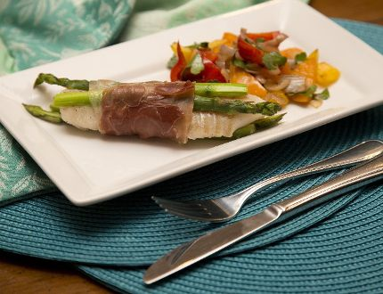 Prosciutto Wrapped Fish with Asparagus. (DEREK RUTTAN, The London Free Press)
