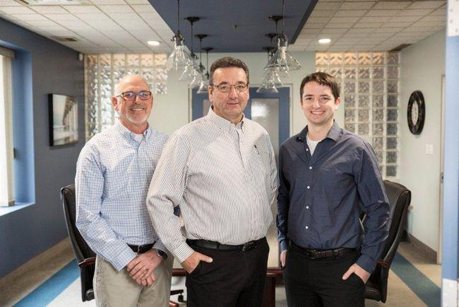 From left to right – Ben Schrik, Werner Bohner, Daniel Bohner.