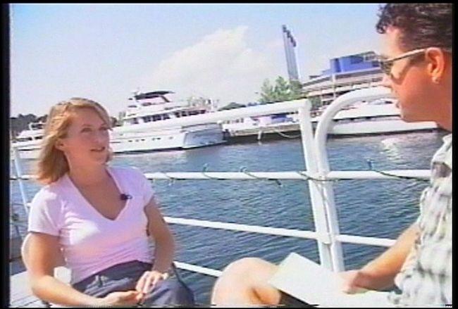 Bill Welychka interviews Liz Phair at the 1998 Lilith Fair in Toronto. Supplied photo.