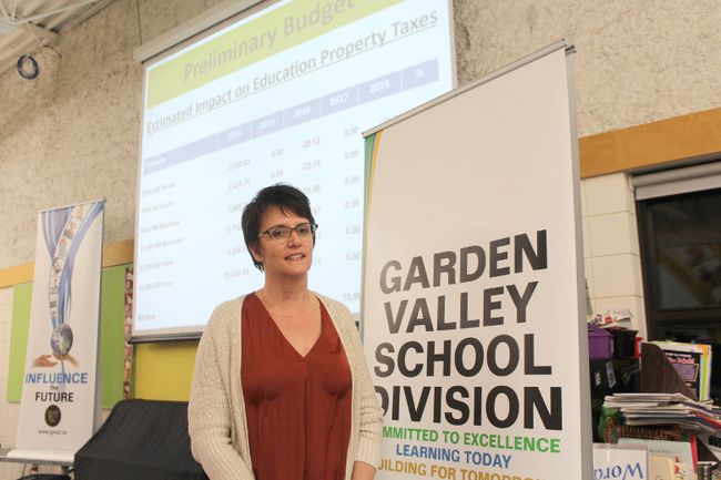 GVSD Chair Laurie Dyck. (GREG VANDERMEULEN/Winkler Times)