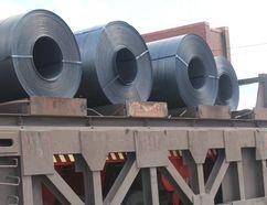 Steel coils.
