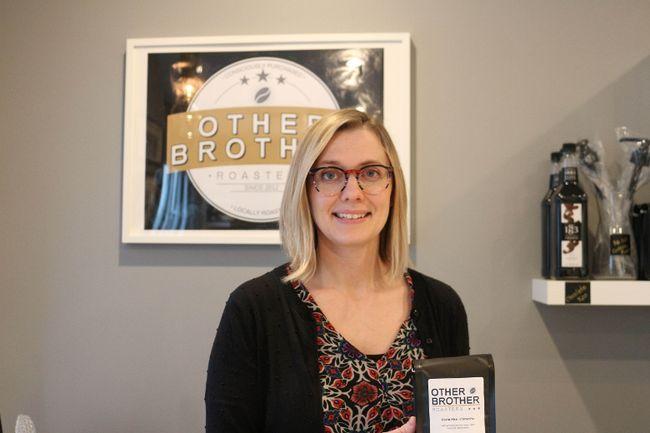 Erin Plett, owner of Other Brother Roasters. (LAUREN MACGILL, Winkler Times)