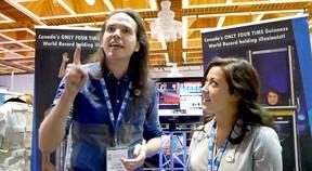 Lucas Wilson and Kelly Defilla at the FEW convention in Hamilton. (Chris Abbott/Tillsonburg News)