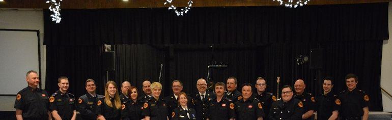 The Mayerthorpe fire department celebrating at the 22nd annual Fireman's Ball (Taryn Brandell | Mayerthorpe Freelancer).