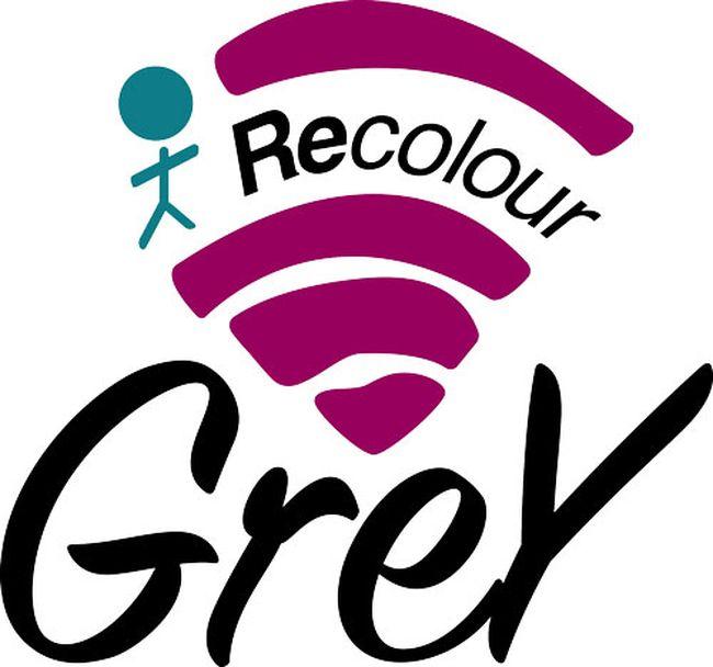 The Recolour Grey logo.