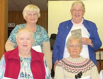 Anglican Women - Back L-R: Maureen Collins and Irene Haldenby. Front: Karen Gaunt and Joan Robinson.