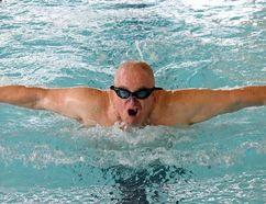 BRUCE BELL/The Intelligencer Scott Fraser swims in Trenton.