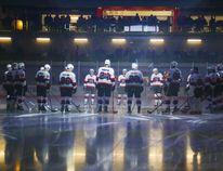 LUKE HENDRY/Intelligencer file photo The Belleville Senators assemble before their first game at Yardmen Arena Wednesday, Nov. 1, 2017.