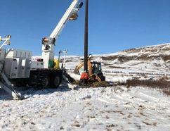 AltaLink installed an Osprey Pole at Glenbow Ranch Provincial Park.