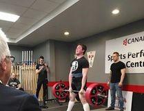 Adam Wallace deadlifts 275 kilograms (606 pounds) Supplied Photo